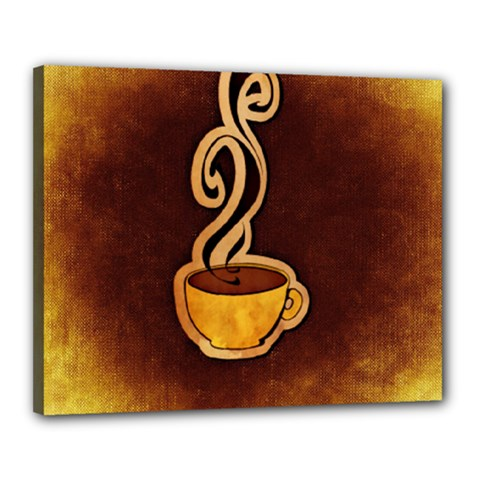 Coffee Drink Abstract Canvas 20  X 16