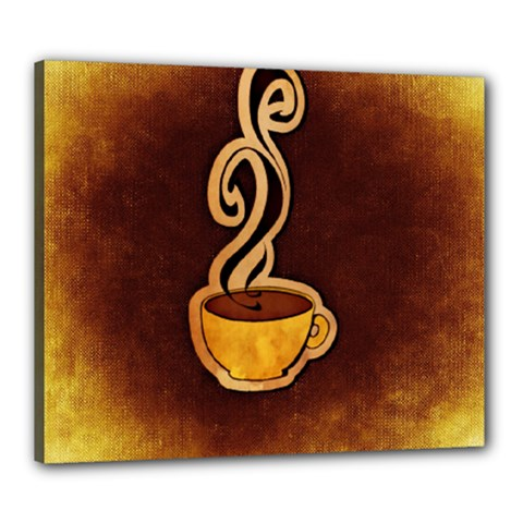 Coffee Drink Abstract Canvas 24  X 20