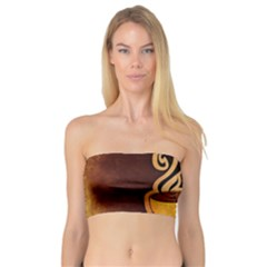 Coffee Drink Abstract Bandeau Top