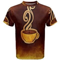 Coffee Drink Abstract Men s Cotton Tee