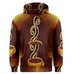 Coffee Drink Abstract Men s Zipper Hoodie