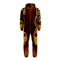 Coffee Drink Abstract Hooded Jumpsuit (Kids)
