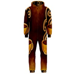 Coffee Drink Abstract Hooded Jumpsuit (men)