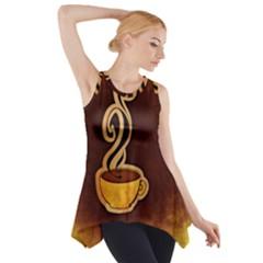 Coffee Drink Abstract Side Drop Tank Tunic