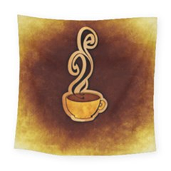 Coffee Drink Abstract Square Tapestry (large)