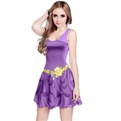 2D Flower Reversible Sleeveless Dress