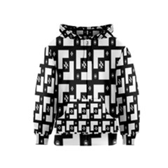 Abstract Pattern Background  Wallpaper In Black And White Shapes, Lines And Swirls Kids  Zipper Hoodie