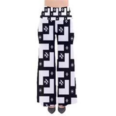 Abstract Pattern Background  Wallpaper In Black And White Shapes, Lines And Swirls Pants