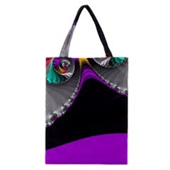 Fractal Background For Scrapbooking Or Other Classic Tote Bag