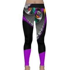 Fractal Background For Scrapbooking Or Other Classic Yoga Leggings