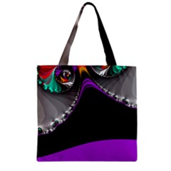 Fractal Background For Scrapbooking Or Other Zipper Grocery Tote Bag