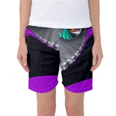 Fractal Background For Scrapbooking Or Other Women s Basketball Shorts