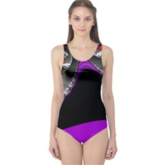 Fractal Background For Scrapbooking Or Other One Piece Swimsuit