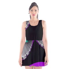 Fractal Background For Scrapbooking Or Other Scoop Neck Skater Dress