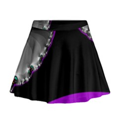 Fractal Background For Scrapbooking Or Other Mini Flare Skirt