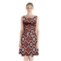 Folklore Sleeveless Chiffon Waist Tie Dress