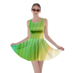 Folded Digitally Painted Abstract Paint Background Texture Skater Dress