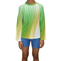Folded Digitally Painted Abstract Paint Background Texture Kids  Long Sleeve Swimwear