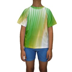 Folded Digitally Painted Abstract Paint Background Texture Kids  Short Sleeve Swimwear