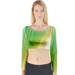 Folded Digitally Painted Abstract Paint Background Texture Long Sleeve Crop Top