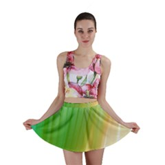Folded Digitally Painted Abstract Paint Background Texture Mini Skirt