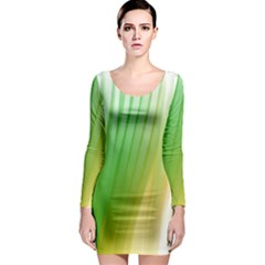 Folded Digitally Painted Abstract Paint Background Texture Long Sleeve Bodycon Dress