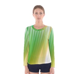Folded Digitally Painted Abstract Paint Background Texture Women s Long Sleeve Tee