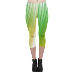 Folded Digitally Painted Abstract Paint Background Texture Capri Leggings