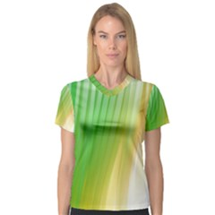 Folded Digitally Painted Abstract Paint Background Texture Women s V Neck Sport Mesh Tee