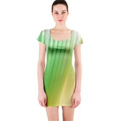 Folded Digitally Painted Abstract Paint Background Texture Short Sleeve Bodycon Dress