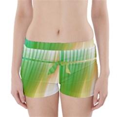 Folded Digitally Painted Abstract Paint Background Texture Boyleg Bikini Wrap Bottoms