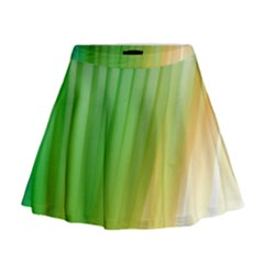 Folded Digitally Painted Abstract Paint Background Texture Mini Flare Skirt