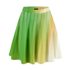 Folded Digitally Painted Abstract Paint Background Texture High Waist Skirt
