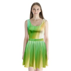 Folded Digitally Painted Abstract Paint Background Texture Split Back Mini Dress