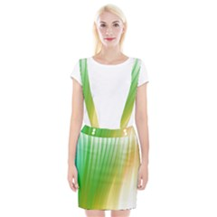 Folded Digitally Painted Abstract Paint Background Texture Suspender Skirt