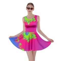Digital Fractal Spiral Skater Dress