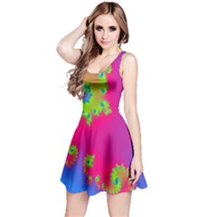Digital Fractal Spiral Reversible Sleeveless Dress