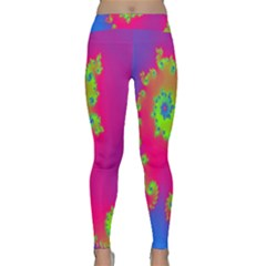 Digital Fractal Spiral Classic Yoga Leggings