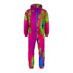 Digital Fractal Spiral Hooded Jumpsuit (Kids)