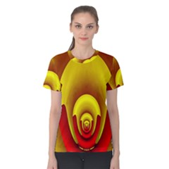 Red Gold Fractal Hypocycloid Women s Cotton Tee