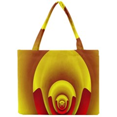 Red Gold Fractal Hypocycloid Mini Tote Bag