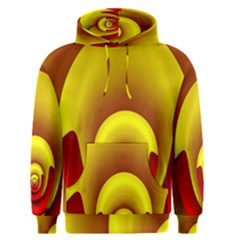 Red Gold Fractal Hypocycloid Men s Pullover Hoodie