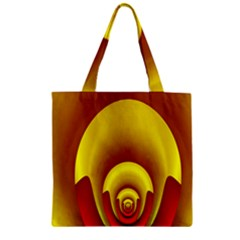 Red Gold Fractal Hypocycloid Zipper Grocery Tote Bag
