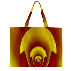 Red Gold Fractal Hypocycloid Zipper Mini Tote Bag