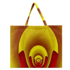 Red Gold Fractal Hypocycloid Zipper Large Tote Bag