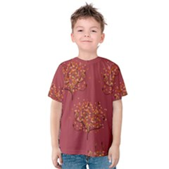 Beautiful Tree Background Pattern Kids  Cotton Tee