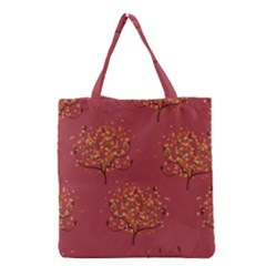 Beautiful Tree Background Pattern Grocery Tote Bag