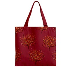 Beautiful Tree Background Pattern Zipper Grocery Tote Bag