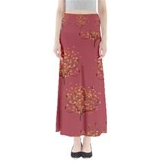 Beautiful Tree Background Pattern Maxi Skirts