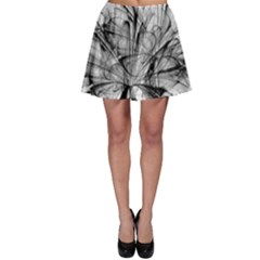 High Detailed Resembling A Flower Fractalblack Flower Skater Skirt